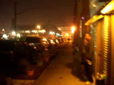 Outside Fi-nite looking at old Tiger Stadium